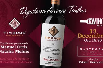 degustare de vin Timbrus și gustări de la Gastrobar în enoteca